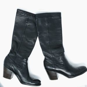 Frye Rory Slouch Leather Boots Black 8.5